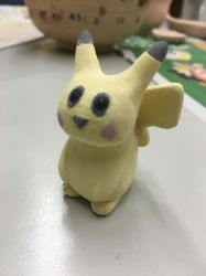 Glazed Pikachu Before Low Fire by Muse-4-Life
