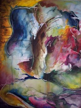 abstract watercolor by skiface