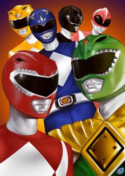 Mighty Morphin Power Rangers by super-badass