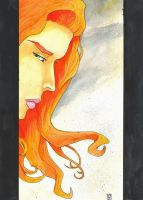 Red Sonja watercolor - Will Egli by SurfTiki