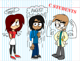 C Students  The Main Characters By Animatedjames-d by TheRobotStrikesBack