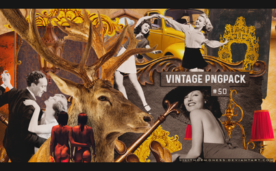 Vintage Pngpack #50 by LilithDemoness