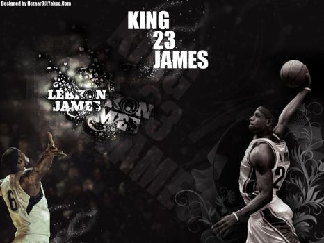 Lebron James 23 King by DSafa