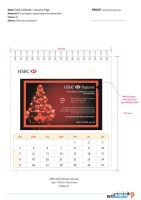 HSBC Desk Calendar Propose 2 by phyoeminthaw