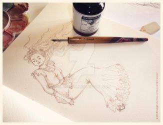 Inking... by Ernestgirl
