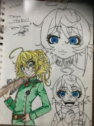 Tanya the Evil (draw) by RoseDAmour