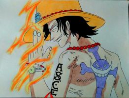 Portgas D. Ace by phkfrost