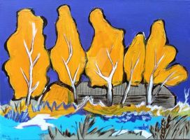 Yellow trees by Milana87