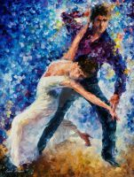 White Dance by Leonid Afremov by Leonidafremov