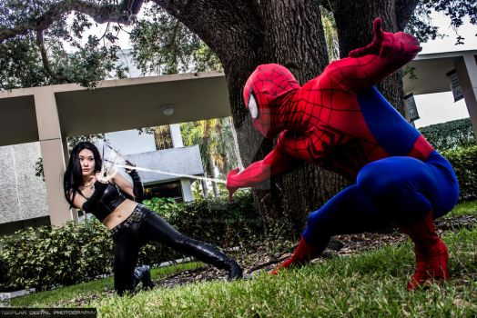 X-23 vs Spiderman by MrSnugglez84