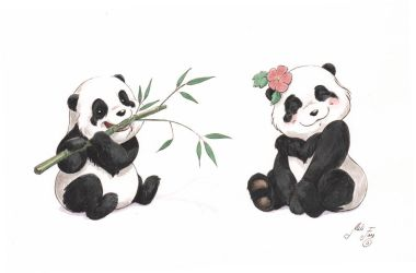 Panda Bears by artofMilica