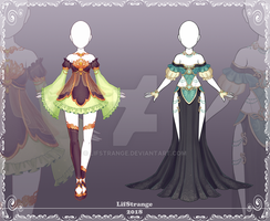 [Close] Adoptable Outfit Auction 213-214 by LifStrange