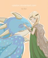 Astrid and Stormfly by Valeton