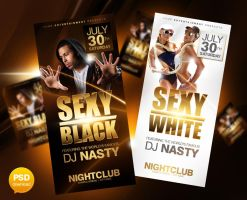 Sexy Black Party Flyer by Party-Flyer