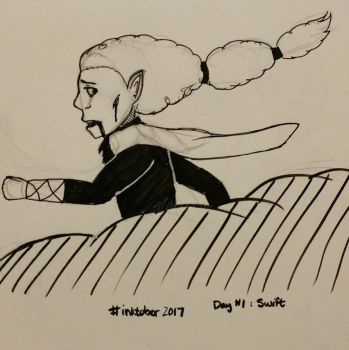 Inktober Day 1: Swift by Glacilynn