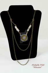 Gold and Crystal Necklace by rikuson2102