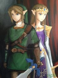 Link and Zelda Refinished by DNLINK