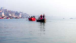 Incredible India - morning on the Ganges by Rikitza