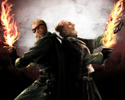 Beric Dondarion and Thoros of Myr by taka0801
