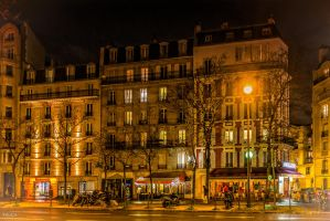 night lights in Paris by Rikitza
