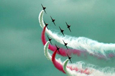 Royal Air Force Red Arrows Display Team by Stanierpacific