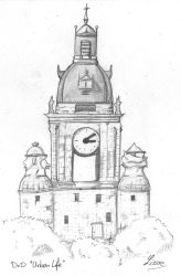 grosse horloge La Rochelle by Lissou-drawing