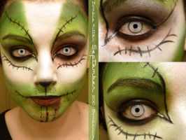 Zombie Kitten Makeup by eglem