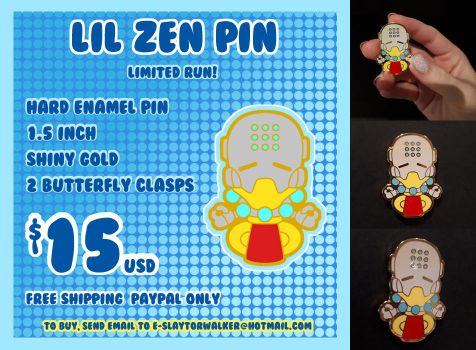 FOR SALE: Lil' Zen enamel pin by DisfiguredStick