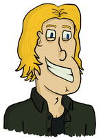 Smiling Cartoon Dude - Colored by Vigorousjammer