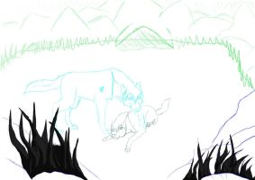 Bluestar and Katiah progression1 by KLSenko
