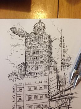 Building sketch  by vibog-3