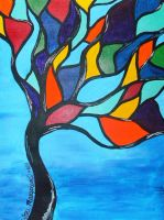 Stain Glass Tree by ToniTiger415
