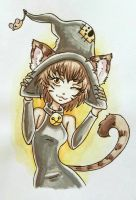Cat Witch  by starbuxx