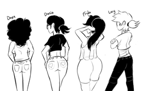 Butts by lucy-fuchs