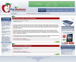 MacRumors Webpage Redesign by Sku11head