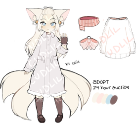 snow kitsune [24 hour auction] [closed!] by cudlil