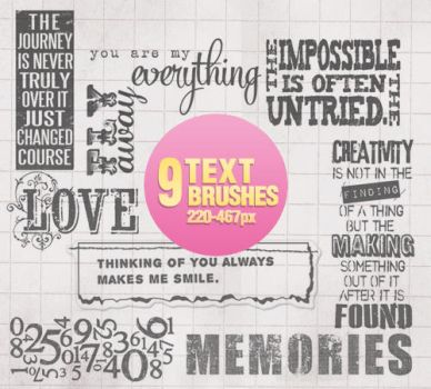 Text Brushes - 1104 by Missesglass