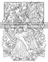 Art of Meadowhaven Coloring Page: Peekaboo by Saimain