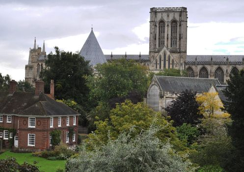 York Minster, from the Wall by monophoto