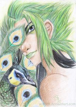 Kuja - Green Peacock by silk501