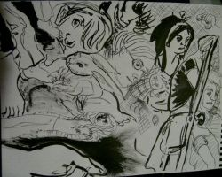 Ink Drawings 1 by Megalosaurus