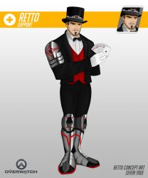 Retto The Magician - Overwatch Fan Character by CFFC2010