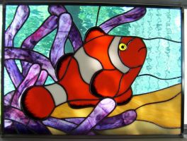 stained glass clownfish by CindyCrowell