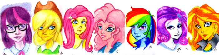 Equestria Girls Portraits by luxshine