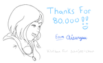 80,000 Kiriban - For Sanjee-chan by Aisuryuu