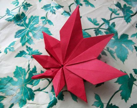 origami leaf by lonely--soldier