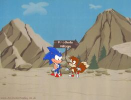 Sonic The Hedgehog Cel by AnimationValley