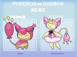 Skitty Pokemon to Digimon