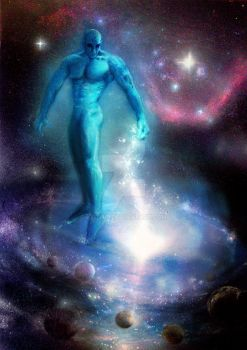 Doctor Manhattan - creating Galaxies by keithid