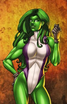 She-Hulked by JamieFayX